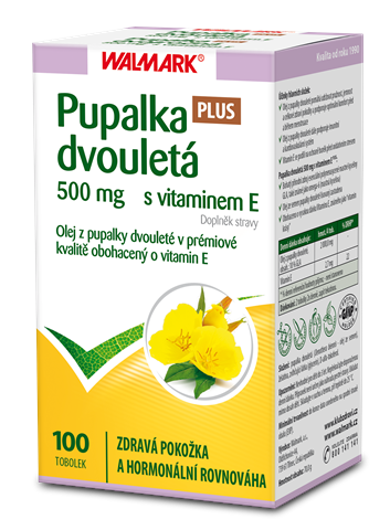 Pupalka dvouletá 500 mg s vitaminem E PLUS