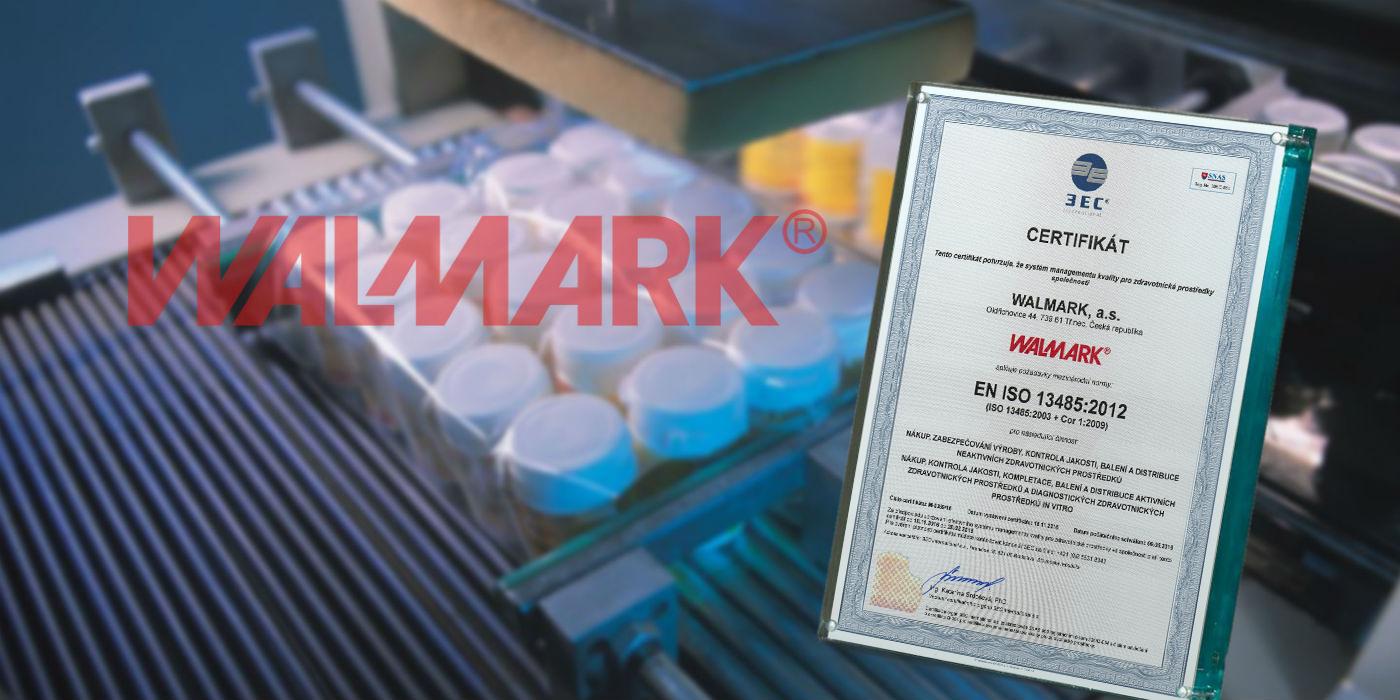 Walmark získal Certifikát EN ISO 13485